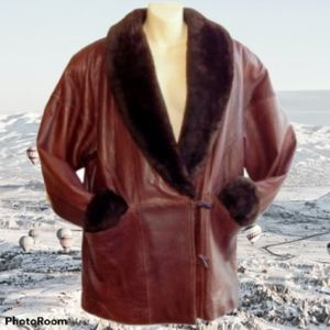 OVERLAND Shearling Lambskin Leather Coat